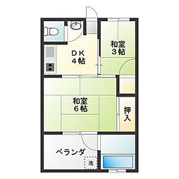 かつらアパート[108号室]の間取り
