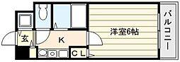 大阪府大阪市福島区福島6の賃貸マンションの間取り