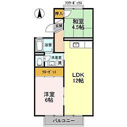 セジュール深井IV[2階]の間取り
