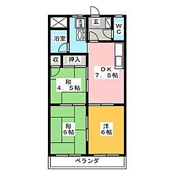 坂平ビル[5階]の間取り