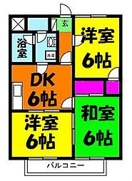 グランドマンション浅井II[2階]の間取り