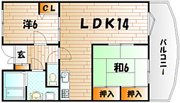 Juju壱番館[1階]の間取り
