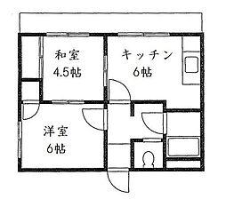 大芝台ハイツ[3階]の間取り