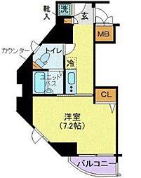 リクレイシア三田[11階]の間取り