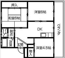 庄野ビル[5階]の間取り