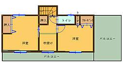 [一戸建] 埼玉県熊谷市今井 の賃貸【/】の間取り