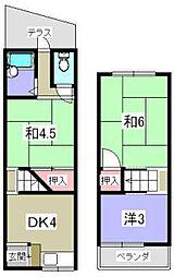 [一戸建] 大阪府枚方市田口1丁目 の賃貸【/】の間取り