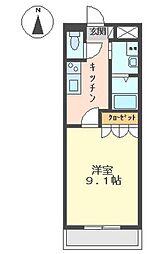 サンモール中島A[1階]の間取り