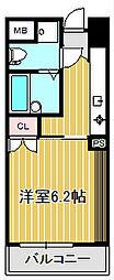 バージュアル武蔵小杉[3階]の間取り