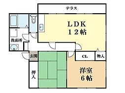 ボナール新田辺[1階]の間取り