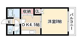 愛知県名古屋市緑区平手北1丁目の賃貸アパートの間取り