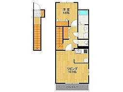 仮)K様アパート[202号室]の間取り