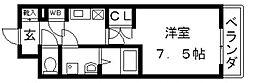 CASSIA高井田SouthCourt[402号室号室]の間取り