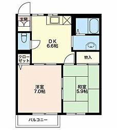 新潟県新潟市秋葉区金沢町4丁目の賃貸アパートの間取り
