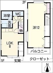 [タウンハウス] 愛知県岡崎市板屋町 の賃貸【/】の間取り