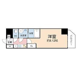 サムティ桜ノ宮レジデンス(アート桜ノ宮) 1階1Kの間取り