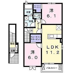プルマージュA・R[2階]の間取り