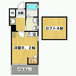 ハウスサラ[1階]の間取り