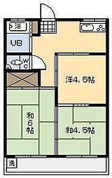 第1岡崎アパート[102号室]の間取り