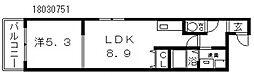 フジパレス中野2番館[1階]の間取り