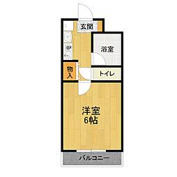 サンノーブルI[1階]の間取り