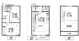 JR東海道本線 新居町駅 徒歩20分の賃貸テラスハウス 1階2SLDKの間取り