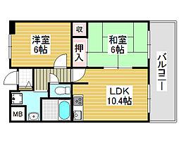 朝日プラザ堺東2[11階]の間取り