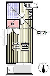 ライフアップ鎌倉[105号室]の間取り