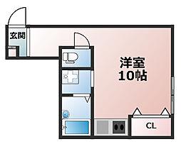 サンライズ六甲道[1階]の間取り