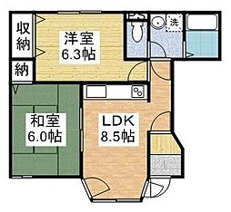 ピュアハートタウン[1階]の間取り