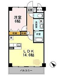 神奈川県相模原市緑区町屋3丁目の賃貸アパートの間取り