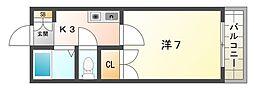 レオパレスさんわ大和田第9[2階]の間取り