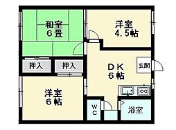 ファミーユ菅野A[1階]の間取り