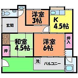 [一戸建] 愛媛県松山市山越町 の賃貸【/】の間取り