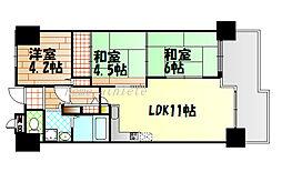 リバーサイドヴィラ姫島[826号室号室]の間取り