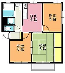 シティーハイム宮内A棟[2階]の間取り