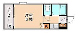 スリム片江[2階]の間取り