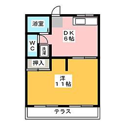 サンロイヤル郷[1階]の間取り