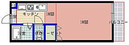 加賀山コーポ 7棟[75 2階号室]の間取り