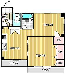 愛知県名古屋市千種区南明町1丁目の賃貸マンションの間取り