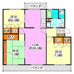 Fujisakiハイム[303号室]の間取り