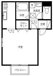 兵庫県豊岡市千代田町の賃貸アパートの間取り