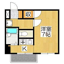 リーガル京都御所西1[605号室]の間取り