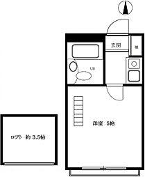 プラザ・ドゥ・ペートン A・B棟[2階]の間取り
