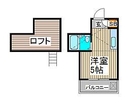 メゾン・ド・ミニヨン2[1階]の間取り