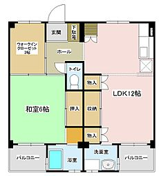 フラット湯田(Flat Yuda)[1204号室]の間取り