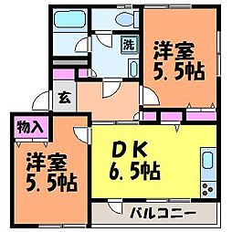 愛媛県松山市道後今市の賃貸マンションの間取り