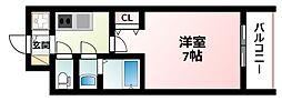 Osaka Metro御堂筋線 西中島南方駅 徒歩4分の賃貸マンション 3階1Kの間取り