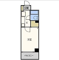 エスリード北梅田[8階]の間取り