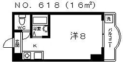 アンヘルム杭全[2階]の間取り